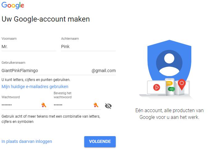 Google Account Aanmaken