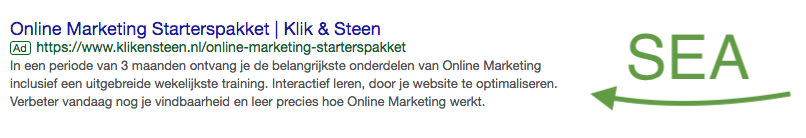 SEA google ads