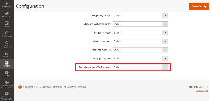 Google tag manager installeren magento 2