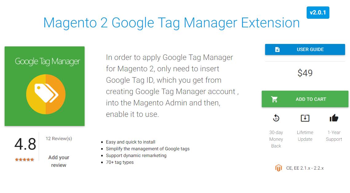 Google tag manager installeren magento 2 extension